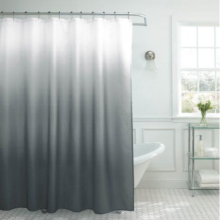 Home Ombre Shower Curtain Gray Shower Curtains Waffle Weave