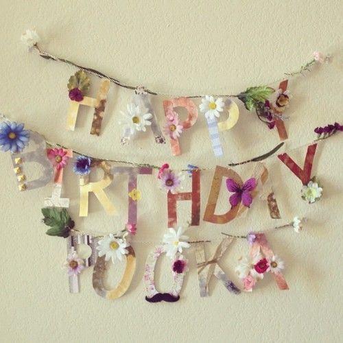 hippie flower child birthday banner bunting