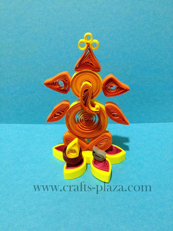 Quilled ganesha idol the art of paper quilling for Big quilling designs