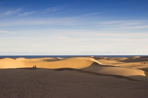 Die Dünen von Maspalomas bieten besonders abends eine spektakuläre Atmosphäre. Ein Muss für jeden Cran Canaria - Urlauber!