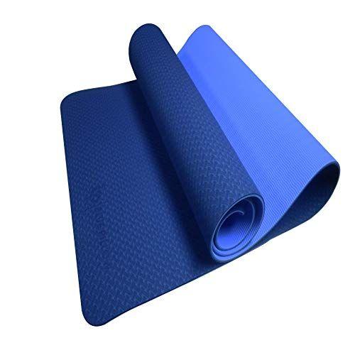 Tapis De Yoga Antiderapant Bluepillow Tapis De Fitness En Tpe Facilement Recyclable Fourni Avec Son Sac De Tran En 2020 Tapis De Gym Tapis Yoga Accessoires De Yoga