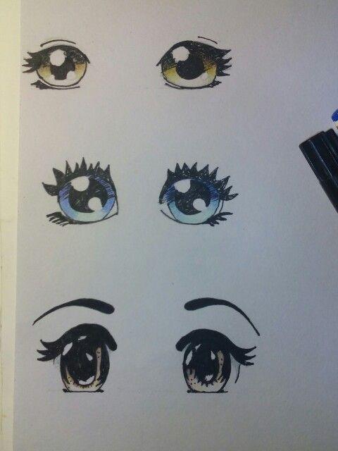 Experiment Augen Zeichnen Und Faerben Medium Bundstift Und Marker Augen Zeichnen Zeichnen Manga Zeichnen