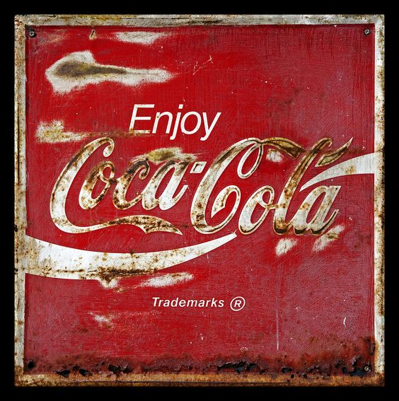 Curtains Ideas coca cola shower curtain : Coca Cola Vintage Rusty Sign | American pickers, Coca cola and Poster