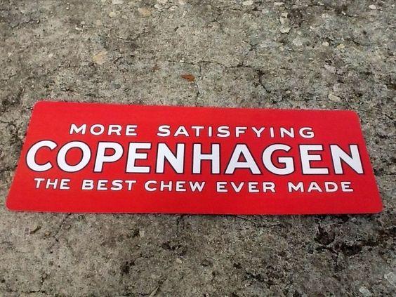 "TIN SIGN ""Copenhagen Red"" Tobacco Metal Decor Wall Art Store Shop A308 #"