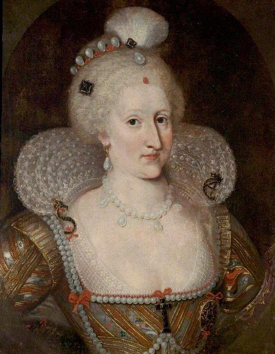 Anne of Denmark attributed to Paulus van Somer (Warwick Shire Hall - Warwick UK)   Grand Ladies   gogm