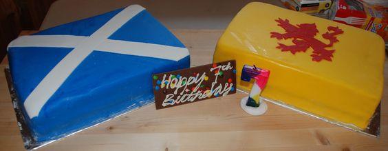 Scottish Flag Cakes