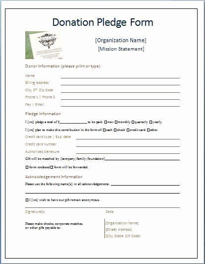 Donor Pledge Card Template In 2021 Donation Form Donation Letter Donation Request Form