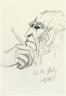 SELBSTPORTRAIT By Otto Dix ,1968