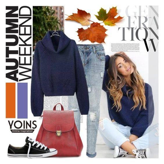 """""""Yoins 8/1"""" by never-alone ❤ liked on Polyvore featuring Converse, MustHave, fall2015 and yoins"""