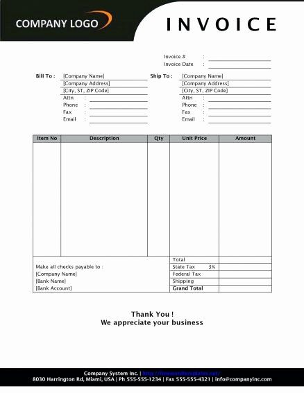 Word Document Invoice Template Beautiful Business Invoice Template Word 14 Colorium Laboratorium Format Di 2020 Desain Inspirasi Ide