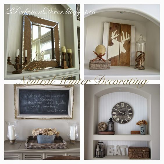 Neutral Winter Decorating