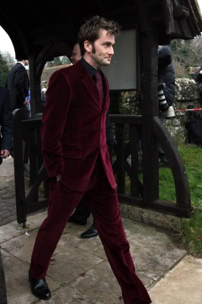 If you've been the Doctor, then you can wear head-to-toe velvet and still be cool :):