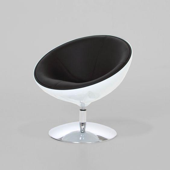 Lounge Sessel weiß schwarz