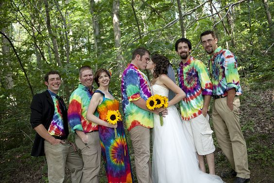 Tie-dye wedding! by Sanmarie2011, via Flickr