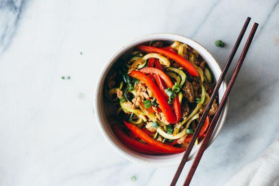 drunken zucchini noodles
