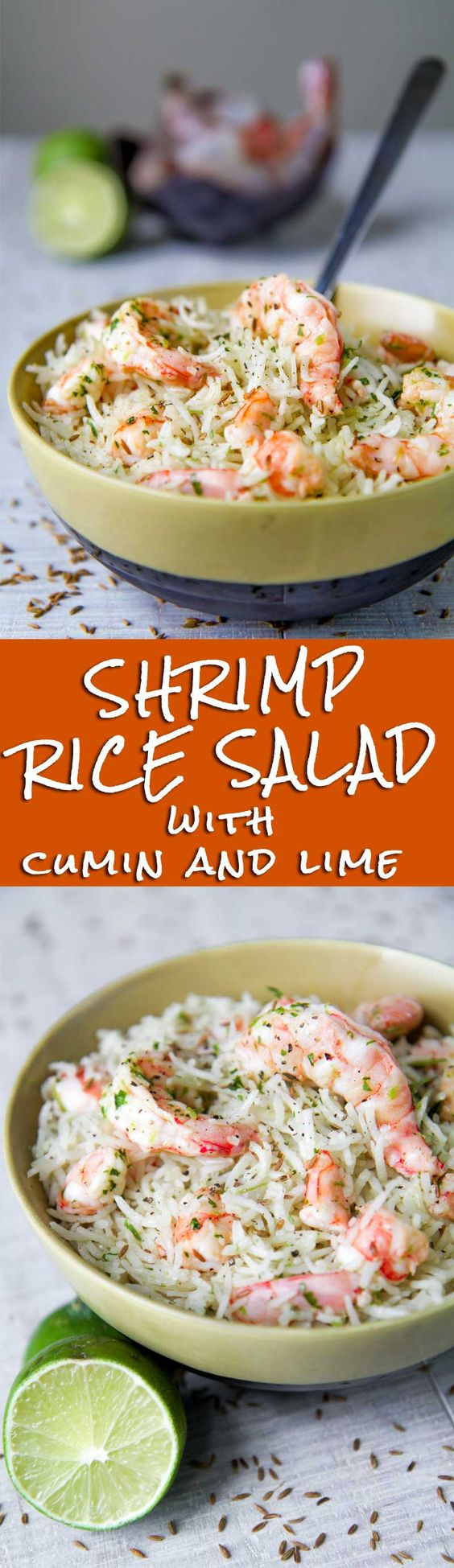 SHRIMP RICE SALAD with lime and cumin dressing - Shrimp rice salad is ...