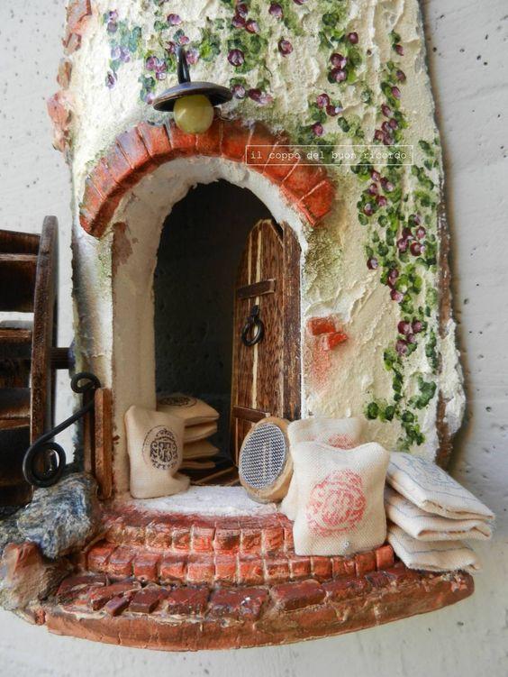 Mulino ad acqua particolare tegole antiche decorate e - Tegole decorate ...