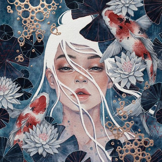 """the art of hieu on Instagram: """"'Innerstream' [Sold] I remember struggling quite a lot on this piece. The initial concept seemed straightforward, but it was hard to…"""""""