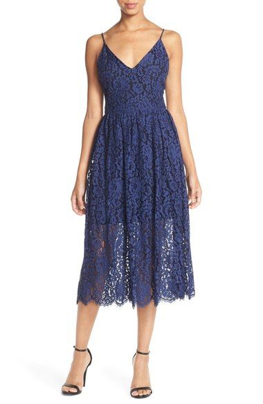 Cynthia Rowley Lace Fit & Flare Midi Dress available at #Nordstrom