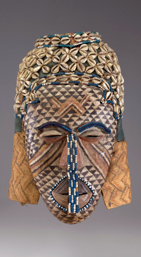 "Africa | ""Ngady amwaash"" mask fro the Kuba people of DR Congo 
