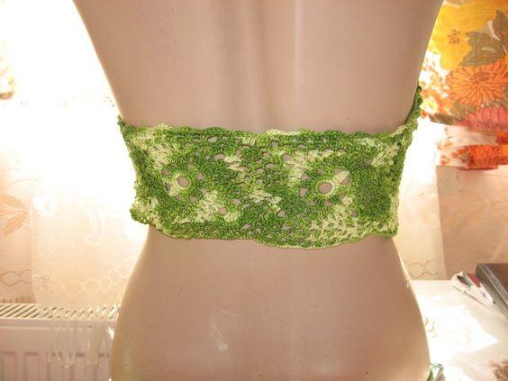 Green crochet summer top open back - via http://bit.ly/epinner