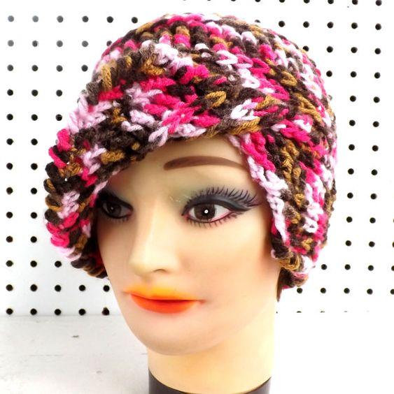 CLAIRISSE Crochet Beanie Hat in Sweet Mocha Pink | Stricken/Häkeln ...