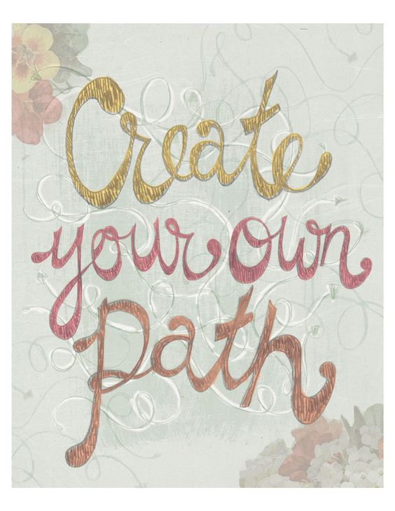 Create your own path 8x10 print by yellowbuttonstudio on Etsy. 20.00 dollars, via Etsy.