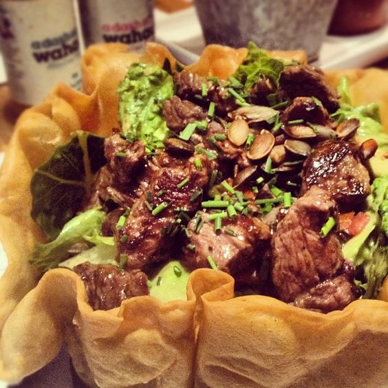 Day #295 - virtuous @wahaca chargrilled steak and avocado spicy salad ...