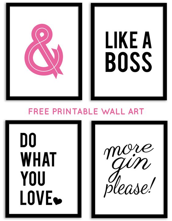 Printable Wall Decor Pinterest : Free printable wall art from chicfetti printables