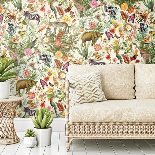 Tropical Zoo Peel And Stick Wallpaper By York Lelands Wallpaper Peel And Stick Wallpaper Decor Wallpaper Roll