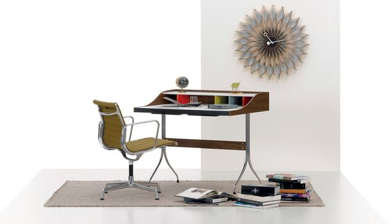 With such iconic designs as the Home desk, George Nelson helped invent the visual language of mid-century modernism. Now over five decades since it was first produced, Vitra bring the colourful, curvy workstation to a new audience.