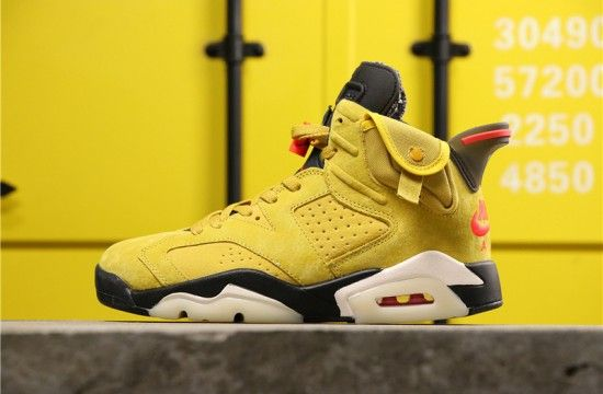 air jordan retro 6 travis scott yellow
