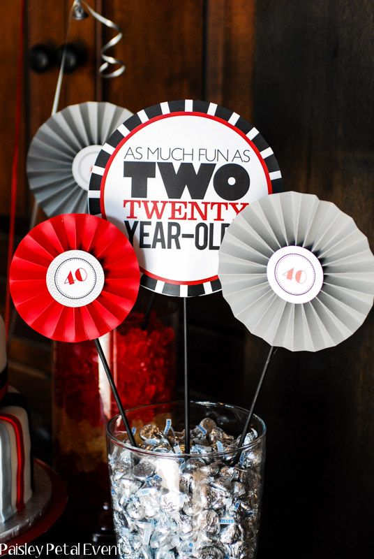 40th Birthday Parties Party Centerpieces And
