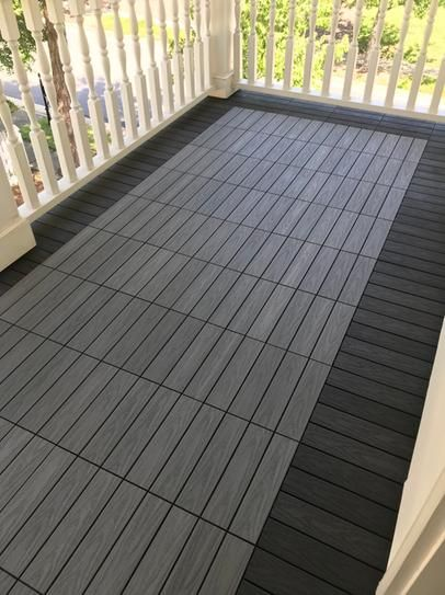 Newtechwood Ultrashield Naturale 1 Ft X 1 Ft Quick Deck Outdoor Composite Deck Tile In Westminster Gray 10 Sq Ft Per Box Us Qd Zx Gy The Home Depot Deck Tile Outdoor Flooring Deck