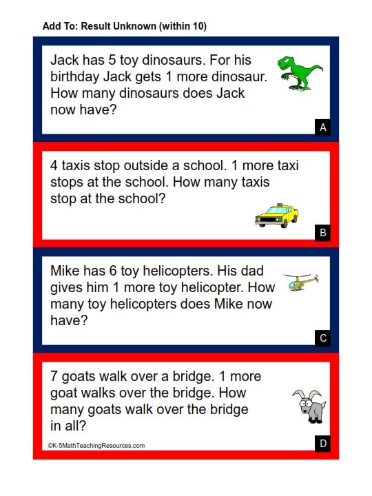 Subtraction word problems Awesome
