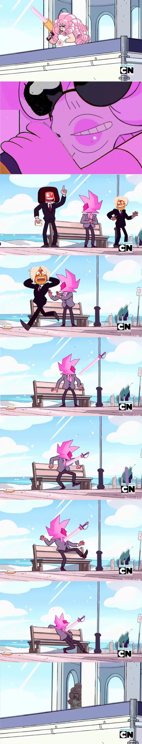 """Good nite"" #pink diamond #rose quartz #eyeball #su #eyeball ruby #jasper su…"