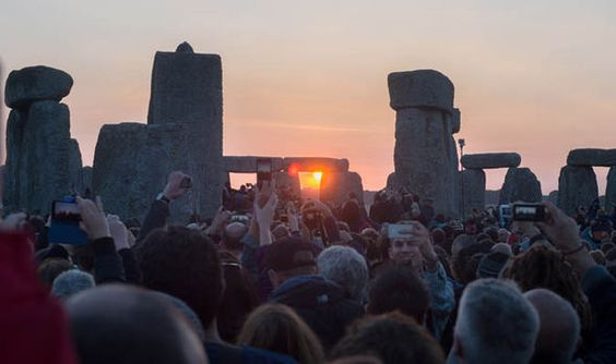 Summer Solstice, Stonehenge - think the guy doing the selfie is missing the point of the numinous...
