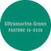 Pantone Ultramarine Green    Close match to Benjamin Moore Aruba Blue #2048-30