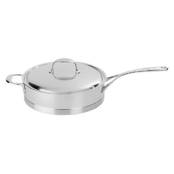 Demeyere Atlantis 7-Ply Sautepan with Lid and Helper Handle - 41428A-41528