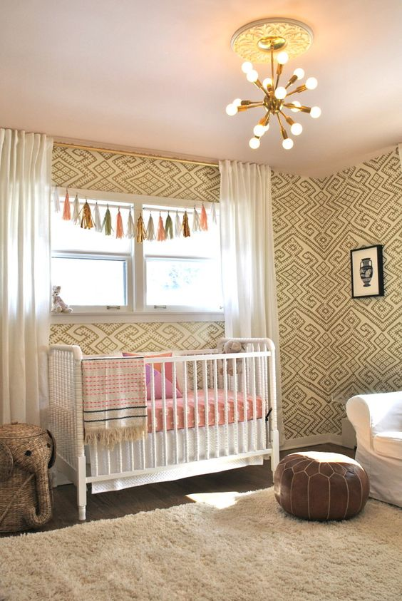 Artist inspired nursery patterns white gold and nursery for White and gold nursery