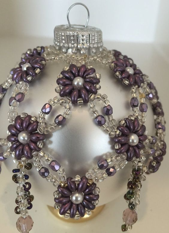 Vintage Beaded Ornament - Full Real Porn