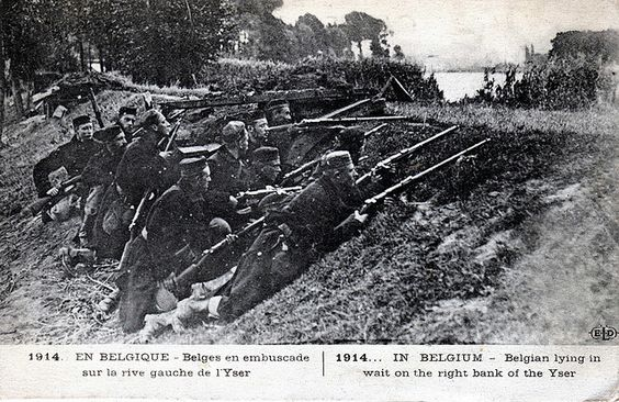 Antwerp 1914. Belgium had a weak fighting force of 117,000 troops, but the Germans did not subdue the defenses of the city until October, when the last elements of Belgian opposition surrendered. Germany remained in control of Belgium until their surrender in November 1918, managing to hold onto Brussels until the end of the war.