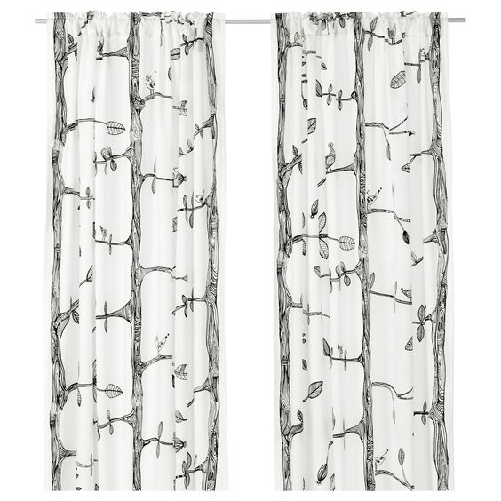 White Curtains black and white curtains ikea : My FAVORITE Ikea curtains. I'm going to buy a couple pairs of them ...