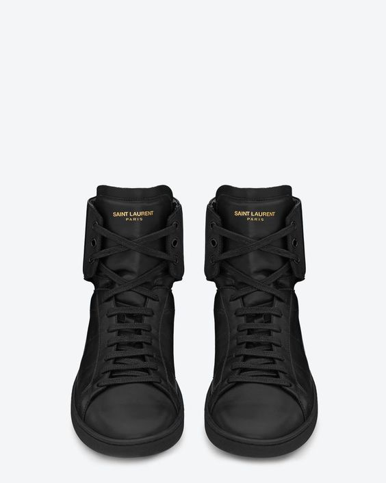 ysl clutch bags sale - Saint Laurent SL/01H Court Classic HIGH TOP SNEAKERS IN BLACK ...