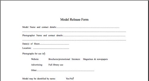 Model release forms for photographers in australia - Forum - model - accident release form