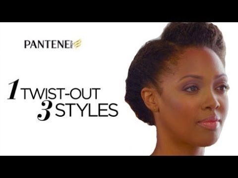 Natural Hairstyles: Updo Hairstyles with Kim Kimble | Pantene - YouTube