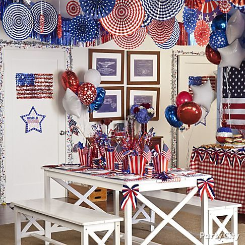 Star-spangled paper fans bring any space to life for a 4th of July party!: