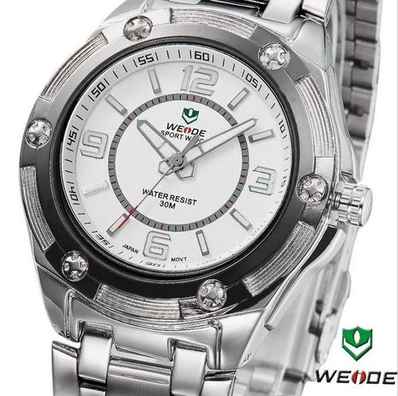 Relógio Masculino Weide. Frete grátis para todo Brasil R$123,90