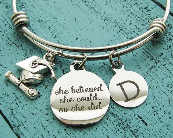graduation charm bracelet