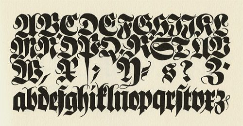 Koch And Blackletter Typography Calligraphy Lettering